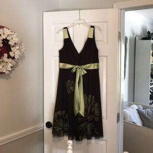 Jessica Howard brown green dress size 14